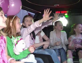 Birthday celebration in the limousine